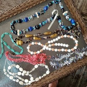 Vintage Lot Of 7 Bead Necklaces